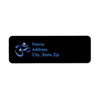 Blue Aum Label