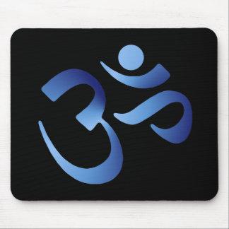 Blue Aum Mouse Pad