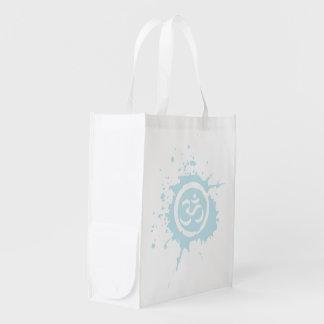 Blue Aum Reusable Shopping Bag Market Totes
