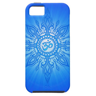 Blue Aum Star Case For The iPhone 5