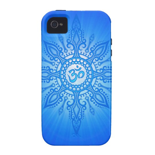 Blue Aum Star Case For The iPhone 4