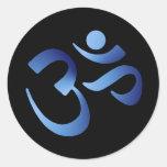 Blue Aum Stickers