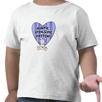 Blue Auntie Spoils Me Tee Shirt