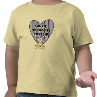 Blue Auntie Spoils Me Tshirts and Gifts