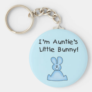 Blue Auntie's Little Bunny Tshirts and Gifts Keychains