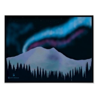 Blue Aurora Posters