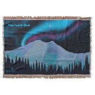Blue Aurora Throw Blanket