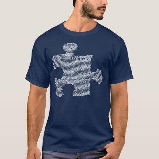 Blue Autism Puzzle Peice T-Shirt