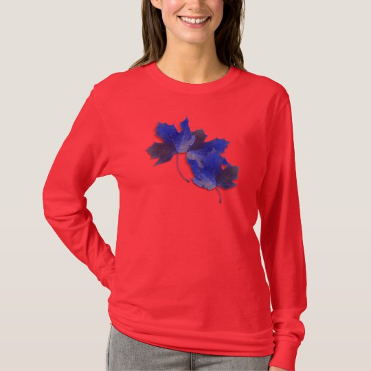 Blue Autumn Leaves T-Shirt