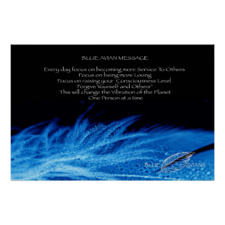 Blue Avian Poster