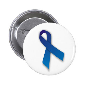 Blue Awareness and Remembrance Ribbon Pinback Button