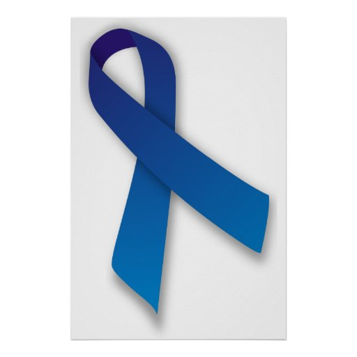 Blue Awareness and Remembrance Ribbon Poster