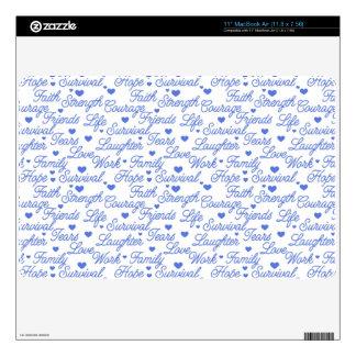 """Blue Awareness MacBook Air 11"""" Skin Skins For MacBook"""