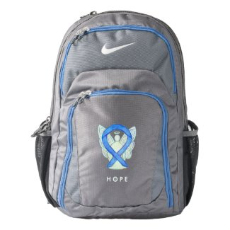 Blue Awareness Ribbon Angel Custom Backpack