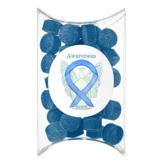 Blue Awareness Ribbon Angel Custom Gum Gifts