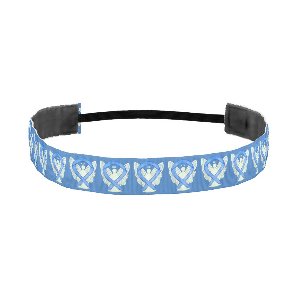 Blue Awareness Ribbon Angel Custom Headband