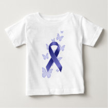 Blue Awareness Ribbon Baby T-Shirt