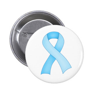 Blue Awareness Ribbon Button 0001