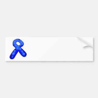 Blue Awareness Ribbon Candle Bumper Sticker