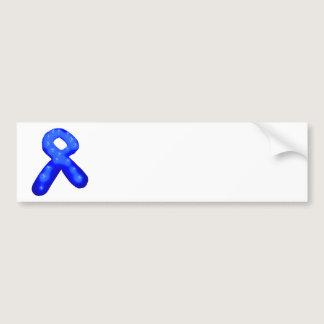 Blue Awareness Ribbon Candle Bumper Sticker