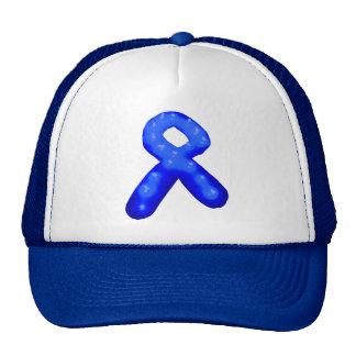 Blue Awareness Ribbon Candle Hats