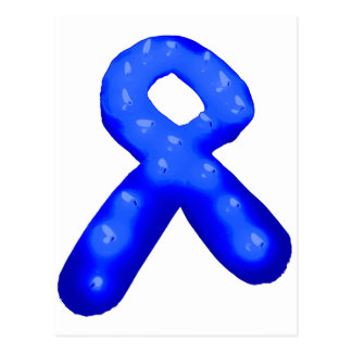 Blue Awareness Ribbon Candle Postcard