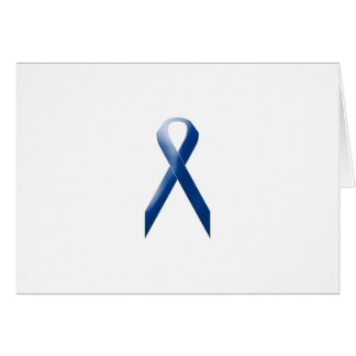 Blue awareness ribbon card