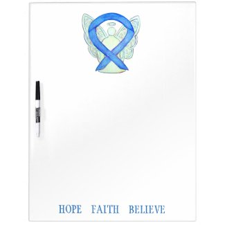 Blue Awareness Ribbon Custom Dry Erase Board
