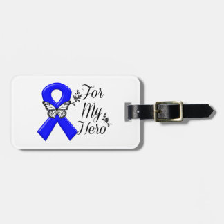 Blue Awareness Ribbon For My Hero Luggage Tag