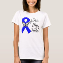 Blue Awareness Ribbon For My Hero T-Shirt