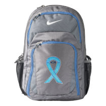 Blue Awareness Ribbon Hope Art Customized Backpack