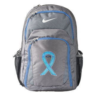 Blue Awareness Ribbon Hope Art Customized Backpack