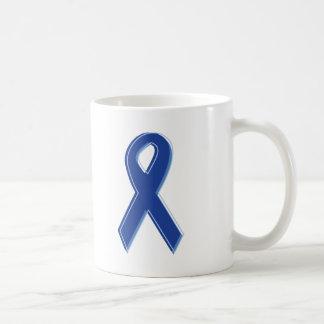 Blue Awareness Ribbon Classic White Coffee Mug