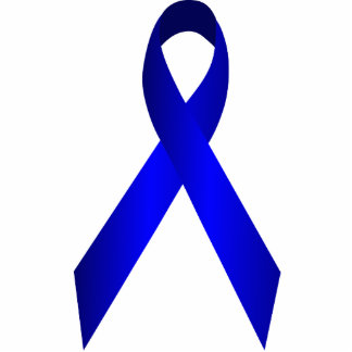 Blue Awareness Ribbon Pin Statuette