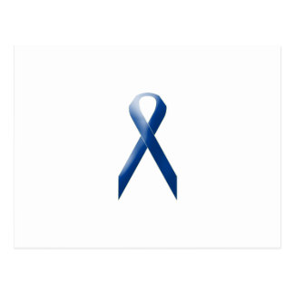 Blue awareness ribbon postcard