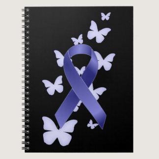 Blue Awareness Ribbon Spiral Notebook