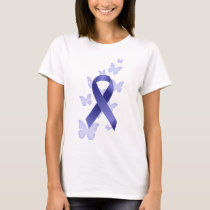 Blue Awareness Ribbon T-Shirt
