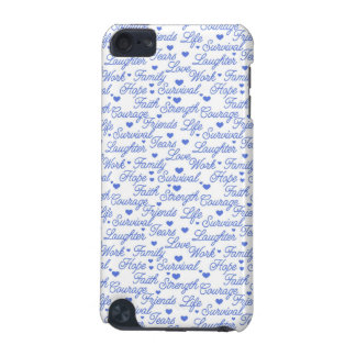 Blue Awareness Words iPod Case iPod Touch (5th Generation) Case