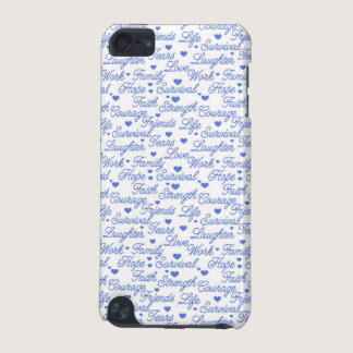 Blue Awareness Words iPod Case