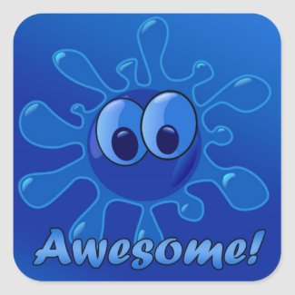 Blue Awesome Sticker