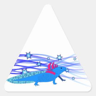 Blue Axolotl with stars Sticker