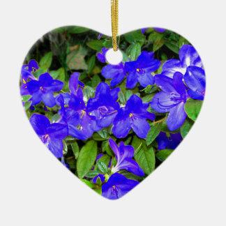 Blue Azalea Flowers Christmas Ornaments