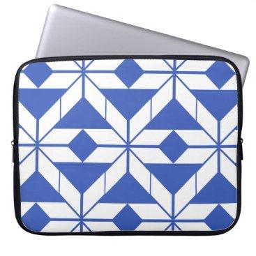 Aztec Themed Blue Aztec Geometric Design Laptop Sleeve