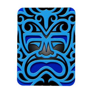 Blue Aztec Mask Rectangular Photo Magnet
