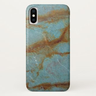 Blue Azure Marble iPhone X Case