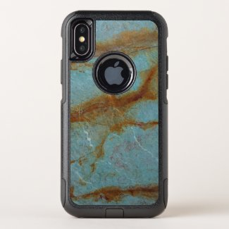 Blue Azure Marble OtterBox Commuter iPhone X Case