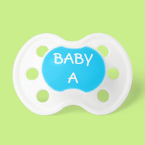 Blue Baby A for Twins Pacifier