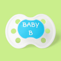 Blue Baby B for Multiple Births Pacifier
