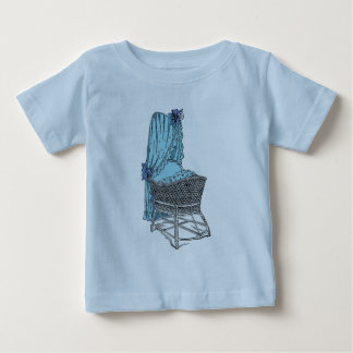 Blue Baby Bassinet Baby T-Shirt