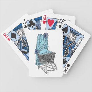 Blue Baby Bassinet Playing Cards
